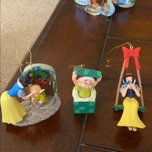 Set of 3 Snow White Ornaments